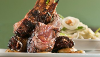 Lamb two ways and fennel salad