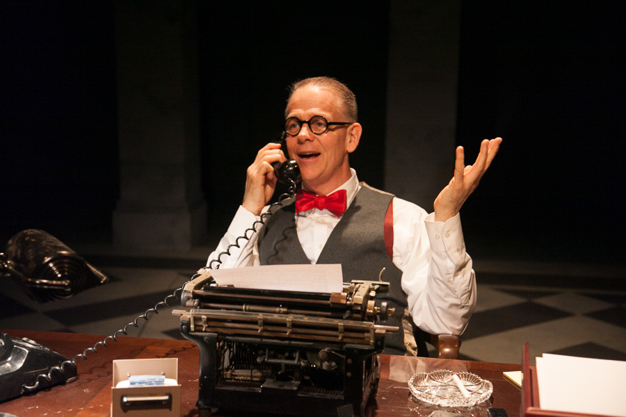 Philip Earl Johnson in American Blues Theater's <i>The Columnist</i>