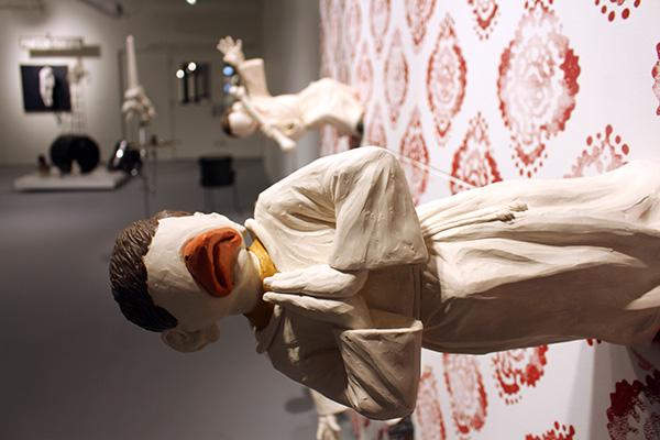 <i>Burghers of El Rayo</i> from Rodrigo Lara Zendejas's exhibit at the Hyde Park Art center through 7/17.