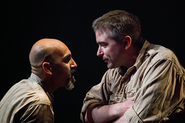 Kareem Bandealy and Michael Patrick Thornton in the Gift Theatre's Othello