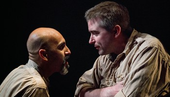 Kareem Bandealy and Michael Patrick Thornton in the Gift Theatre's <i>Othello</i>