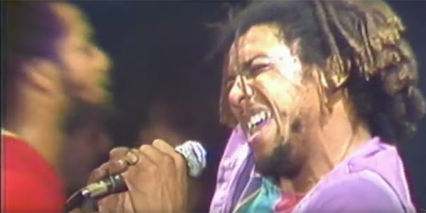 Bad Brains front man H.R. at CBGB in 1982