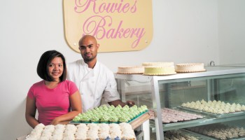 Rowie Reyes and Mike Ramos at Rowie's Bakery