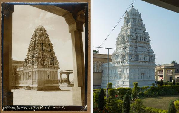 Balaji Temple in 1945 and 2014