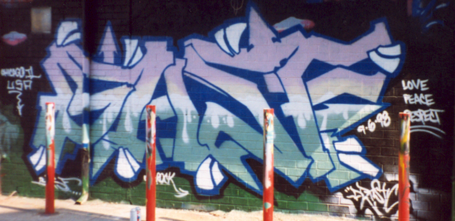 Roberts created this north-side permission-wall piece in 1998 for the crew BASF, which he helped lead.
