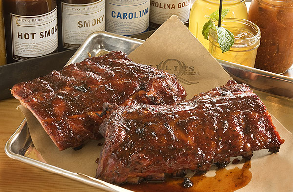 Baby back ribs at Lillie's Q Urban Barbecue