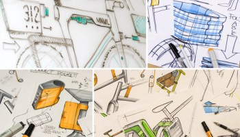 Minimal's conceptual sketches for load-carrying and integrated-lighting systems