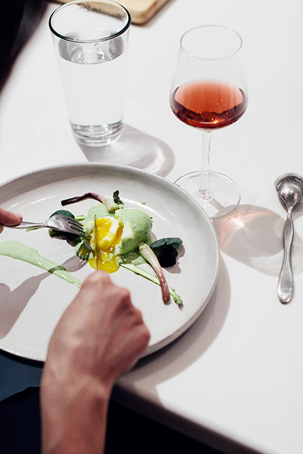 One of the dishes Baltzley prepared at a pop-up dinner in May