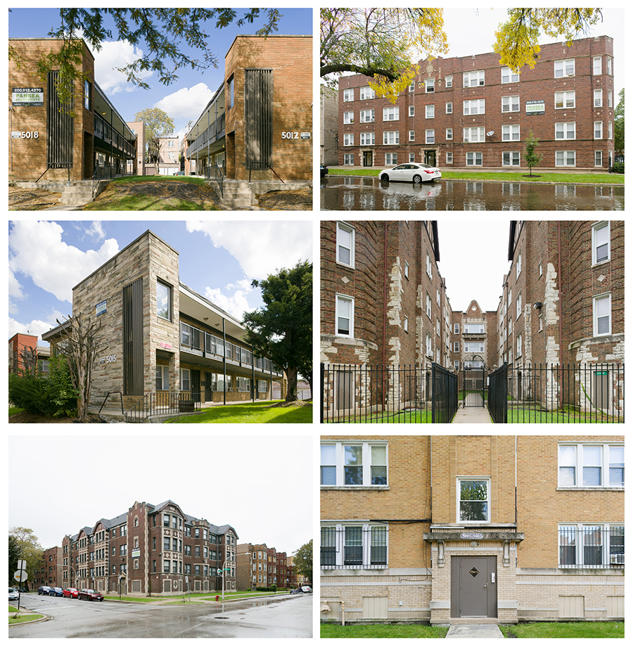 Pangea's apartment empire consists mostly of buildings with more than six units. Nearly three-quarters of their holdings are in South Shore, Chatham, Auburn Gresham, Woodlawn, and Austin.