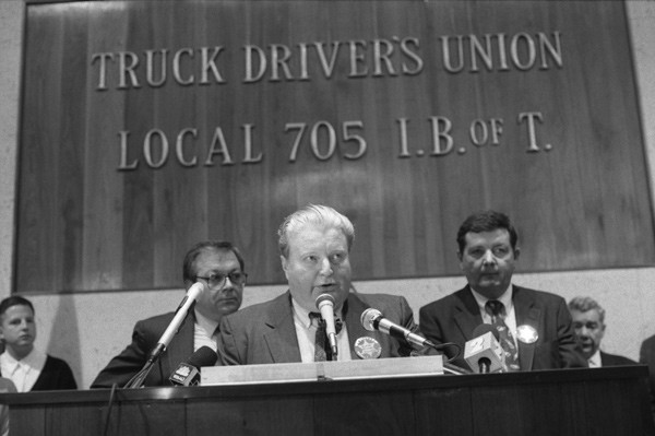 Jon Burge at a 1992 rally for his supporters