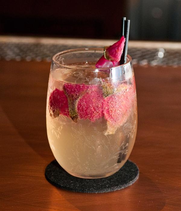 Jason Cevallos's dragon fruit cocktail