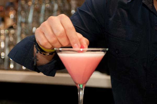 Putting the finishing touches on Adolgo Calderon's Snow White cocktail