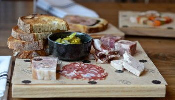 The charcuterie board proves a better value than a la carte options, the only hitch being that the selection itself is at the whim of the kitchen.