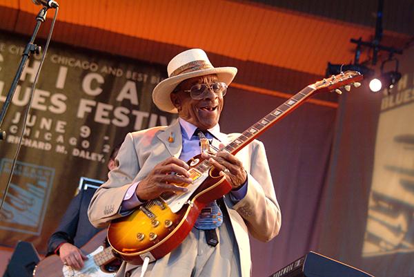 Hubert Sumlin performing at a previous Blues Fest