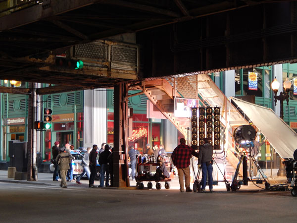 Chicago PD filming on location