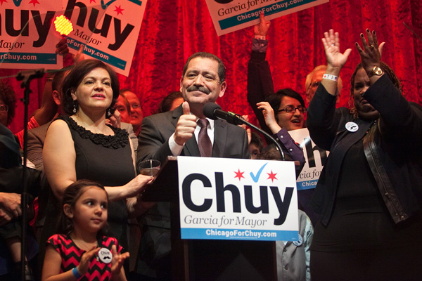 """County commissioner Jesus """"Chuy"""" Garcia will go one-on-one against Mayor Emanuel."""