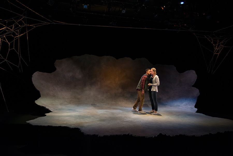 Jon Michael Hill and Jessie Fisher in Steppenwolf's <i>Constellations</i>