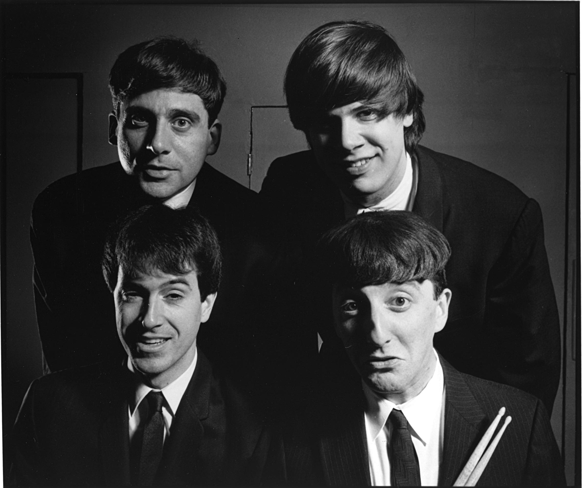 Steve Carell (top left) and Colbert meet the Beatles