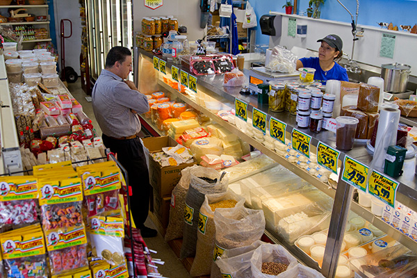 Cremeria La Ordeña's owners work for Mi Costeñita, the wholesale importer of Mexican chiles, spices, candies, and snacks.
