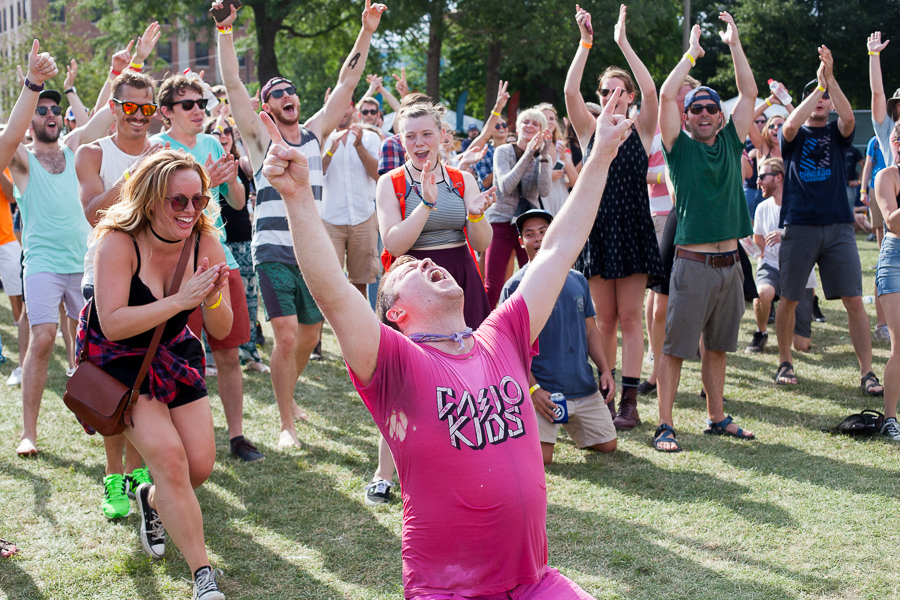 A flash dance mob broke out during Holy Ghost!'s set