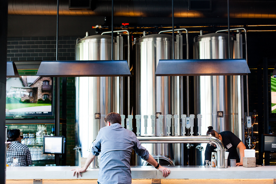 Beer tanks behind the bar