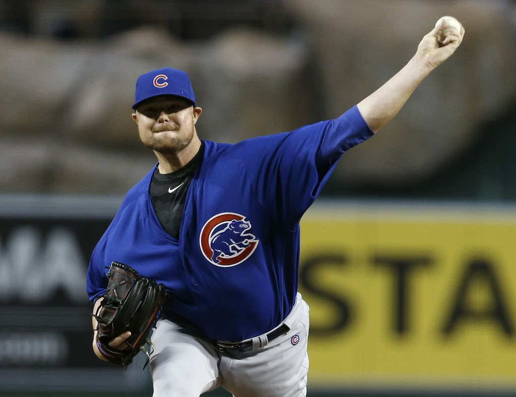 Cubs southpaw Jon Lester dominated the Angels in Anaheim.