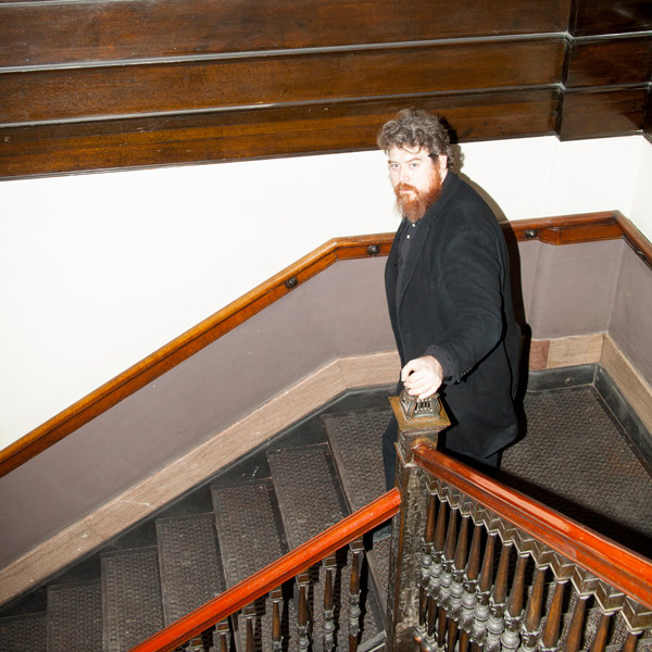 Daniel Knox in the Fine Arts Building at 410 S. Michigan, where he used to take historical tours with his stepfather as a kid