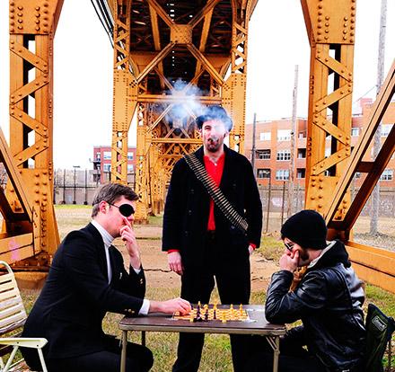 Ian Piirtola, Ray Keenan, and Adam Harris of Den