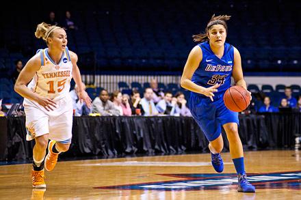DePaul senior guard Deanna Ortiz