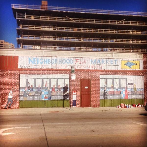 Don't Fret mural in Fulton Market