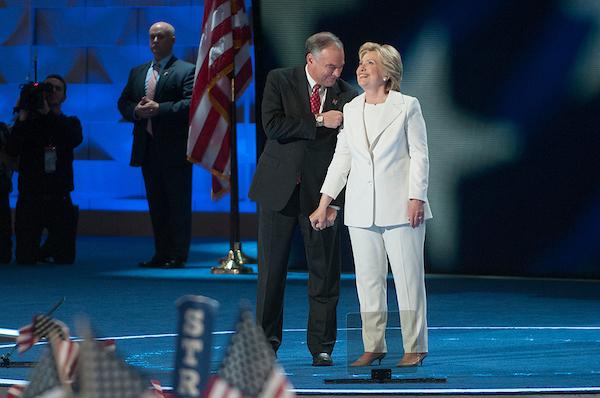 Sen. Tim Kaine and Hillary Clinton