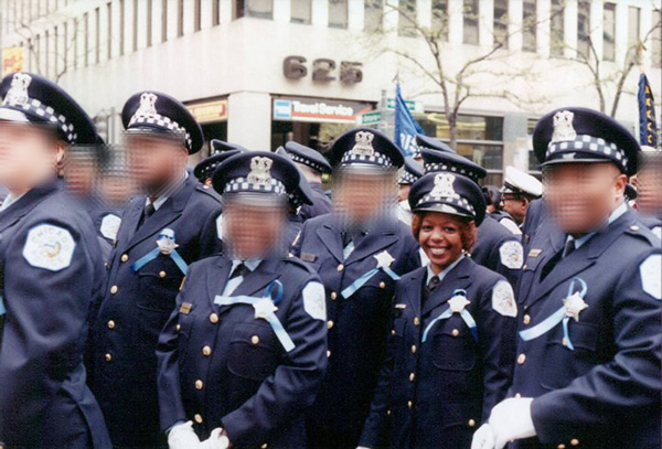 Adams at an early 2000s St. Jude Memorial March in honor of fallen officers