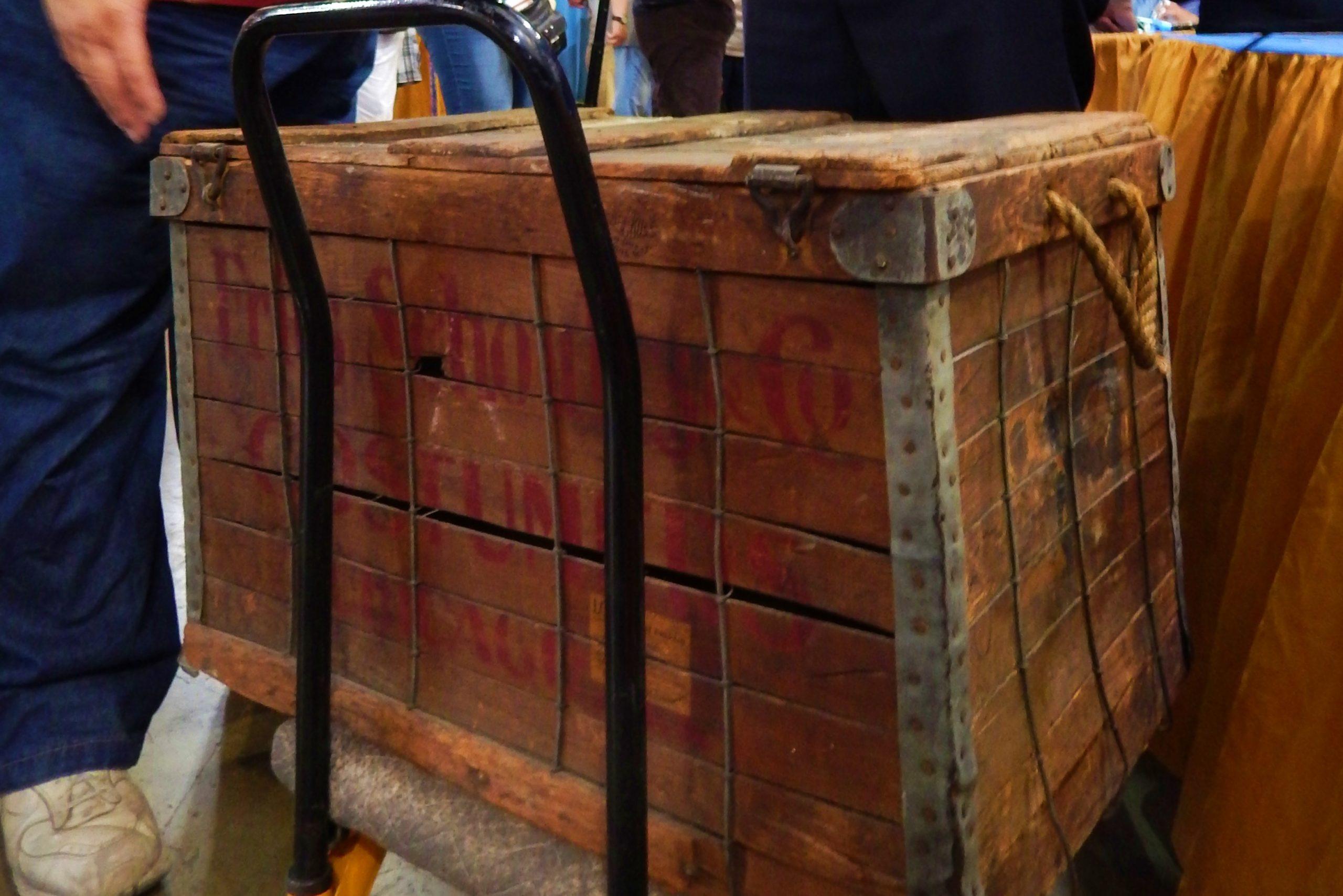 Antique costume trunk