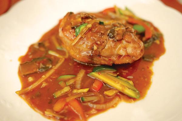Duck breast with Szechuan hot bean sauce at Han 202
