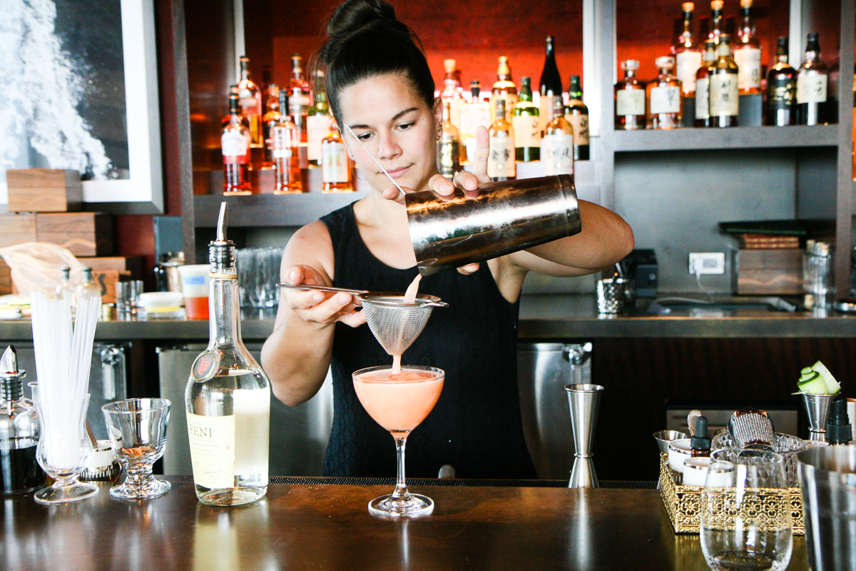 Julia Momose makes the feni cocktail she's planning to put on the fall menu at Annex.