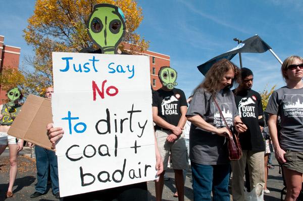Protest near Fisk, October 10