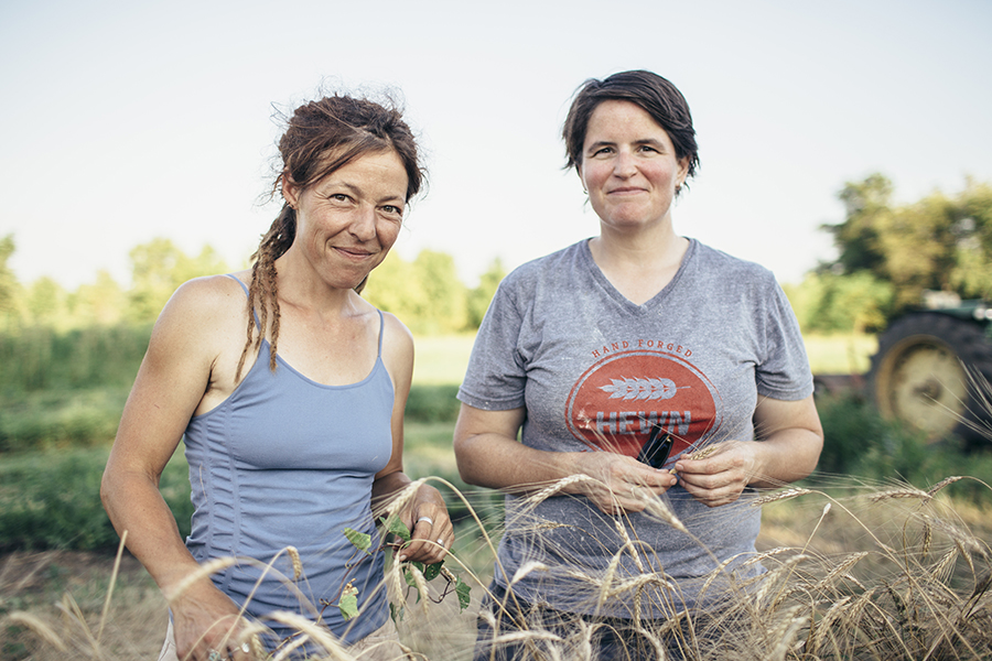 Farmer Andy Hazzard and baker Ellen King, the masterminds of the Midwestern Bread Experiment