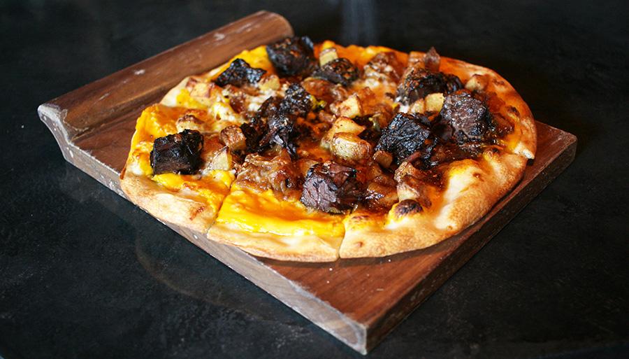 Manischewitz brisket pizza