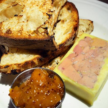 Cognac-spiked foie gras terrine