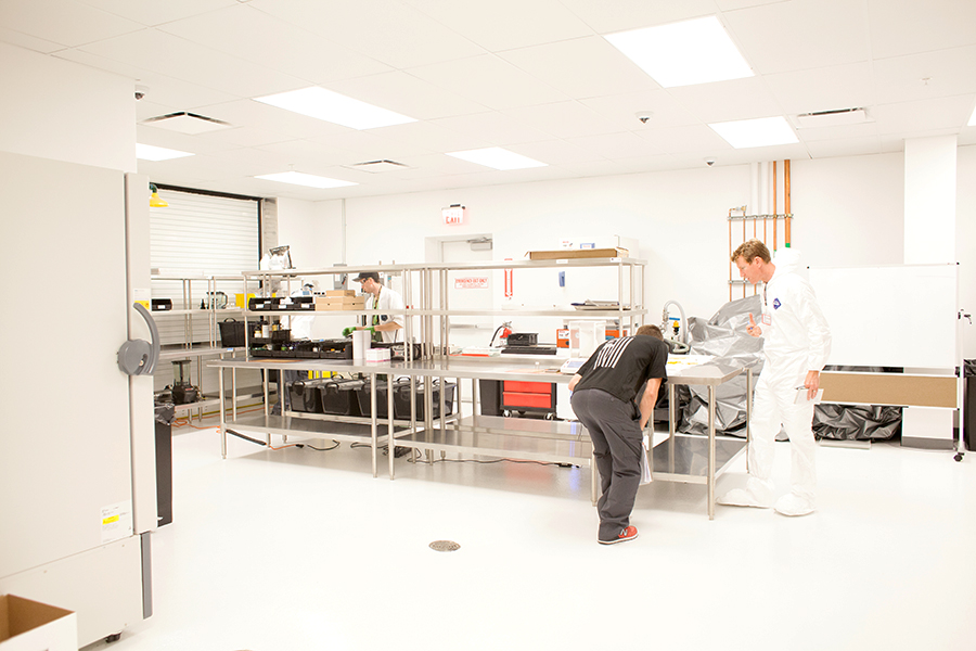 """Revolution's lab. """"This facility is dedicated to the advancement of the science of cannabis,"""" McGraw says."""