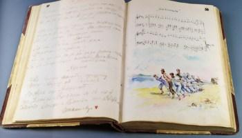 <i>A Diary of a Prisoner</i>, an album by Kazimierz Tymiński and Józef Pribula, is bound in human skin.