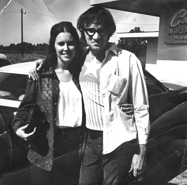 Freddy and his then-wife Theresa in Johnston City (note the Captain America T-shirt)