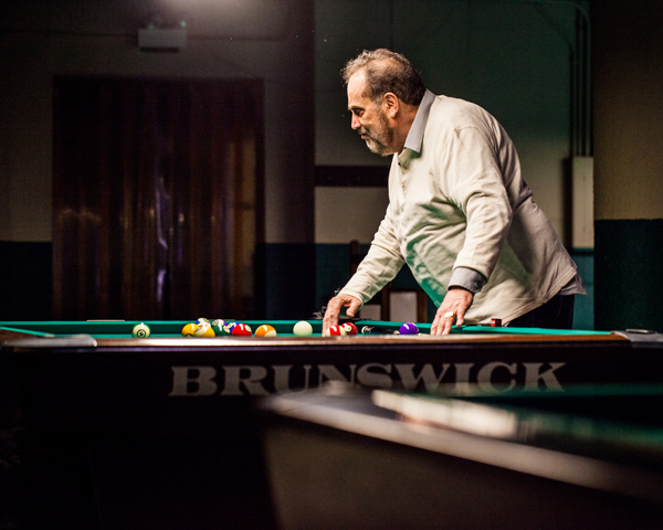 "Freddy ""the Beard"" Bentivegna at Chris's Billiards in Portage Park"