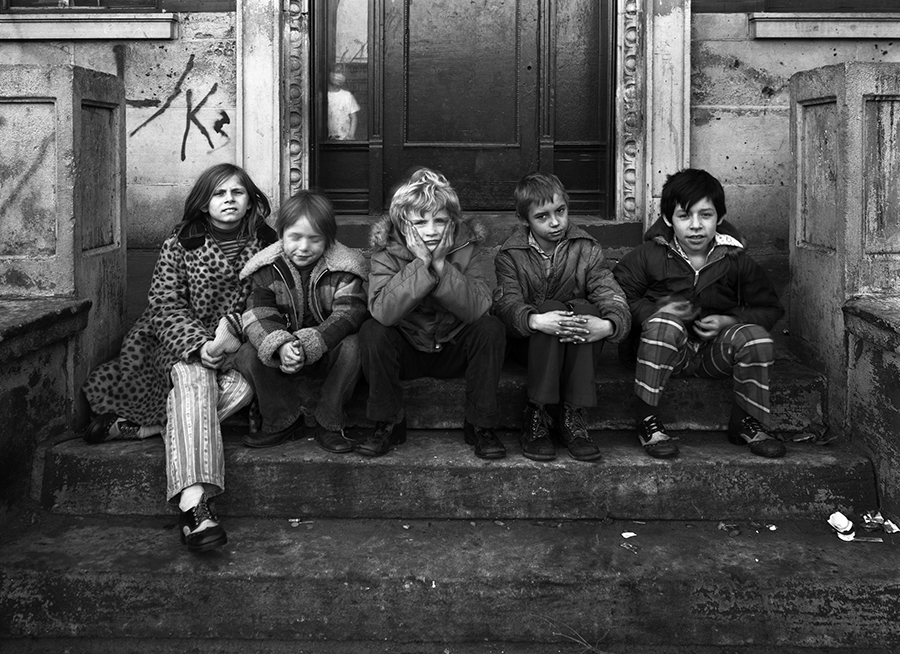"""<b><i>Uptown Kids</i><br/> By Eric Futran</b><br/><br/> Futran says: <i>""""This street portrait was shot in Uptown for a project of mine in David Avison's view camera class at Columbia. I spent a lot of time schlepping a  four-by-five  around Uptown. Sometimes you just get lucky.""""</i>"""