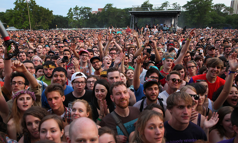St. Vincent fans at the Pitchfork Music Festival in 2014: so much imminent heat exhaustion in one photo
