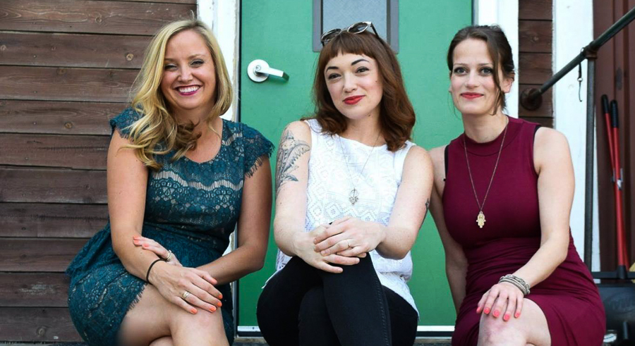 Erika Wozniak, Jen Sabella, and Joanna Klonsky the women behind Girl Talk.