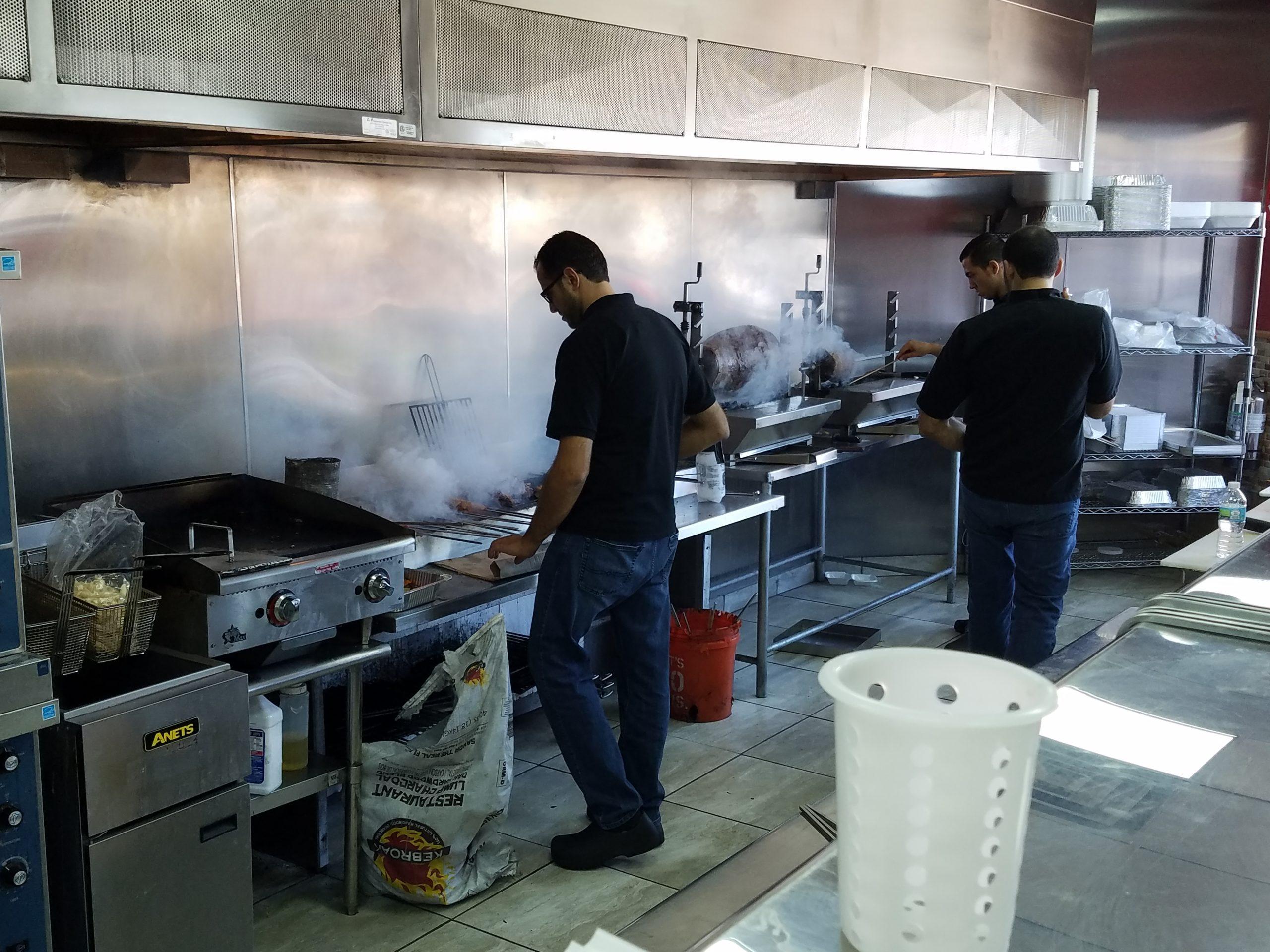 Live charcoal action, Al-Sufara Grills