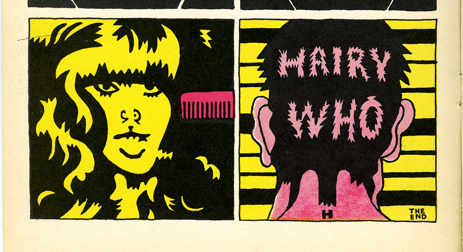 Page by Karl Wirsum from <i>The Portable Hairy Who</i>.