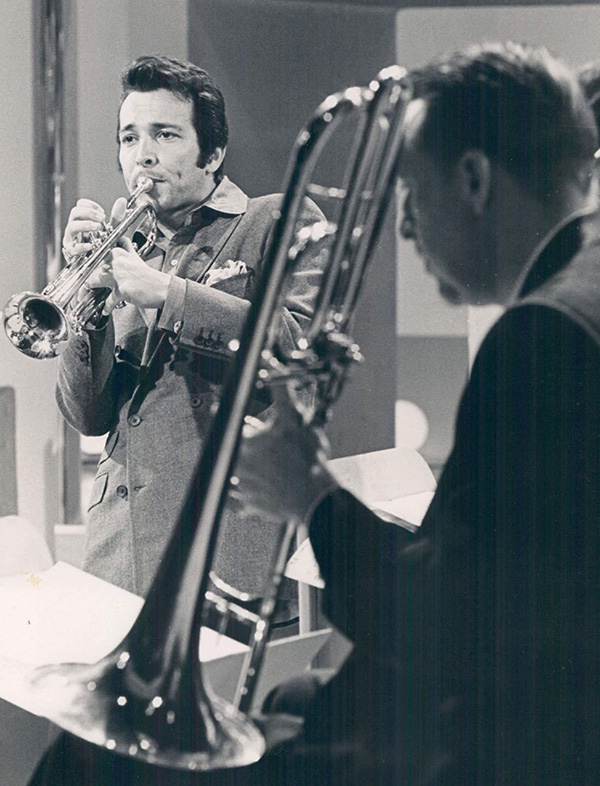 Herb Alpert (left) on tour with the Tijuana Brass in early 1969