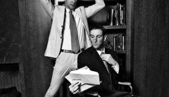 John Pantlind and Caleb George in <i>Hitch-Cocktails</i>